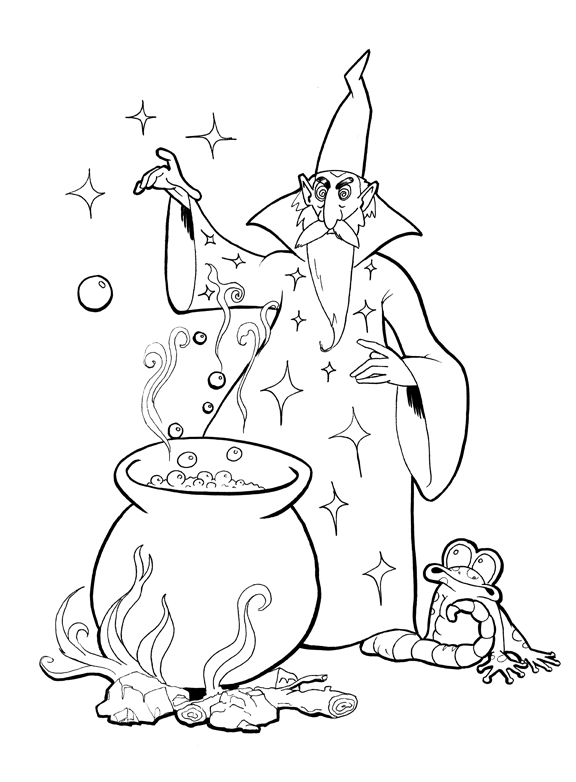 coloring pages magician - photo#22