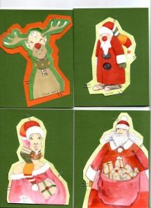 Santas christmas cards