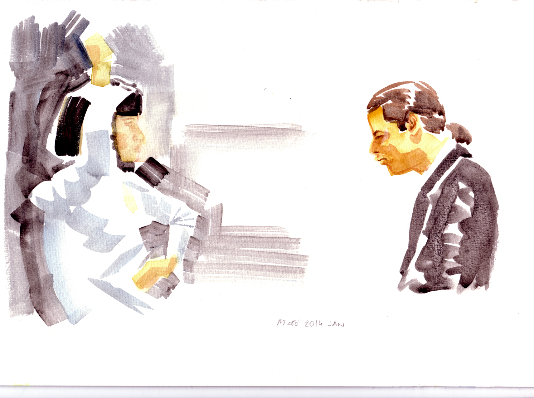 pulp fiction watercolour
