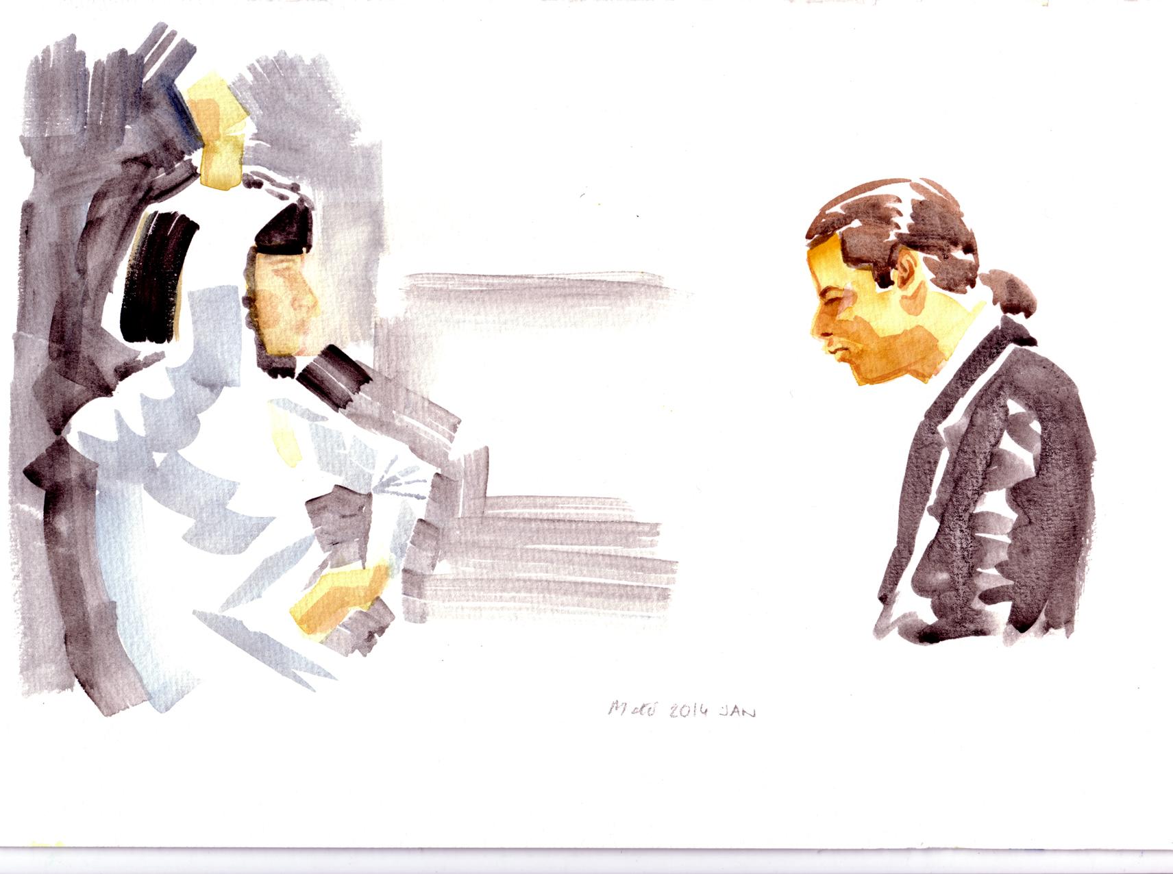 pulp fiction watercolour