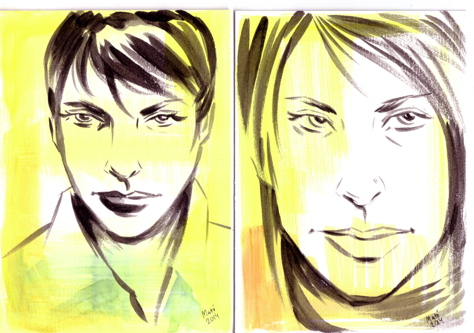 Faces watercolour