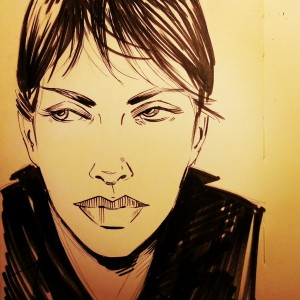 Originla Ink of Modesty Blaise