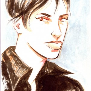 250 SEK, € 25, $ 28An Ink, colored pencil and watercolour drawing of Modesty Blaise. Measures 29,5 x 21 cm. Made in 2013.