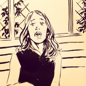 Inktober Daughter On The Porch