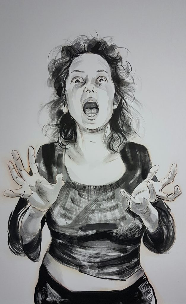 """Scream"" Ink by Maria Tomczak"